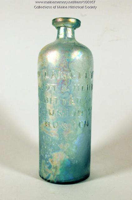 Dr. Langley's Bitters bottle, Portland, ca. 1850