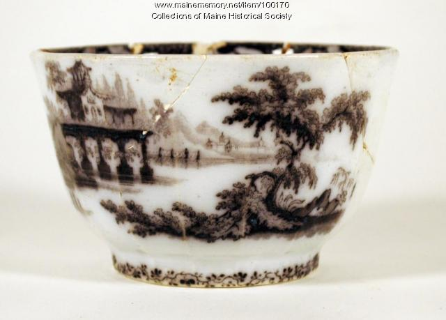 Morley transfer-print bowl, Portland, 1850