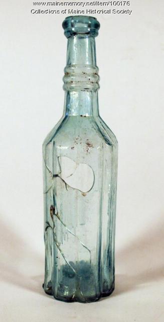 Mold-blown sauce bottle, Portland, ca. 1865