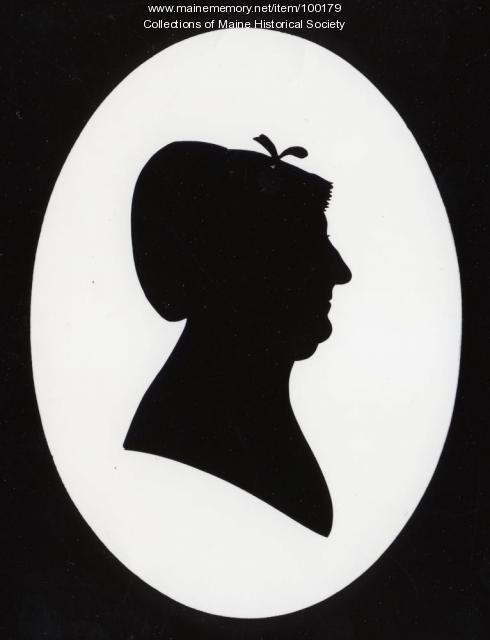 Elizabeth Bartlett Wadsworth silhouette, Portland, ca. 1810