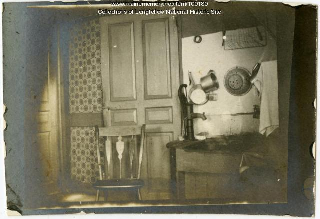 Kitchen, Wadsworth-Longfellow House, Portland, ca. 1901