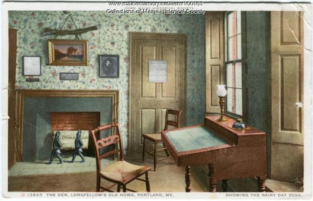"""Rainy Day"" desk, Wadsworth-Longfellow house, Portland, ca. 1920"