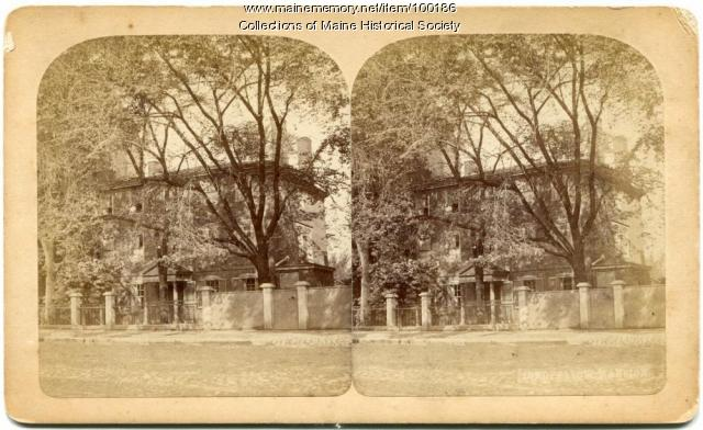 Stereo view of Longfellow House, Portland, ca. 1875