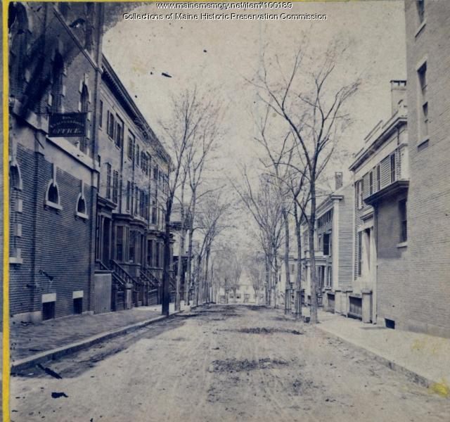Brown Street, Portland, ca. 1875