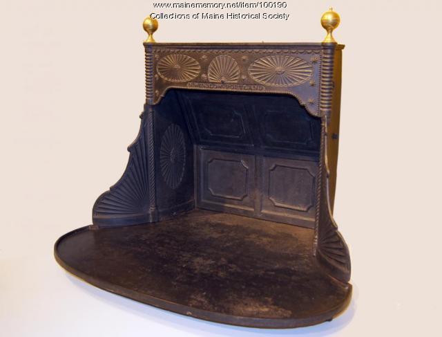 Franklin-style stove, Portland, ca. 1830