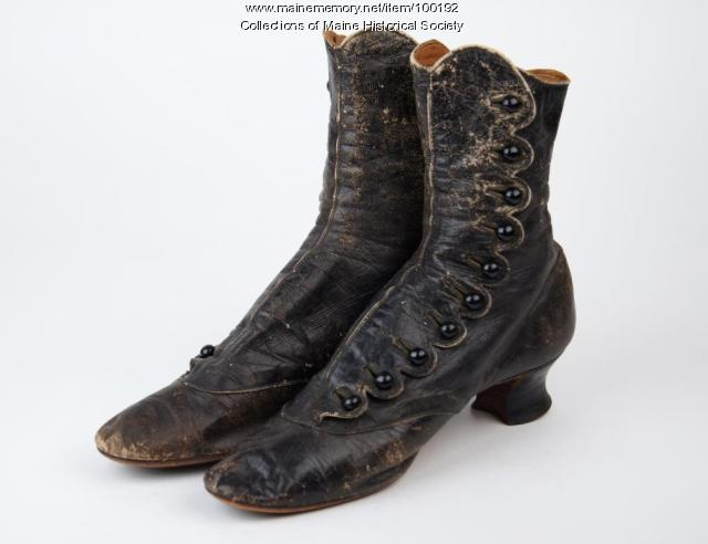Lady's button shoes, North Yarmouth, ca. 1880