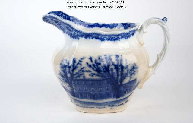 Souvenir Longfellow House pitcher, ca. 1910