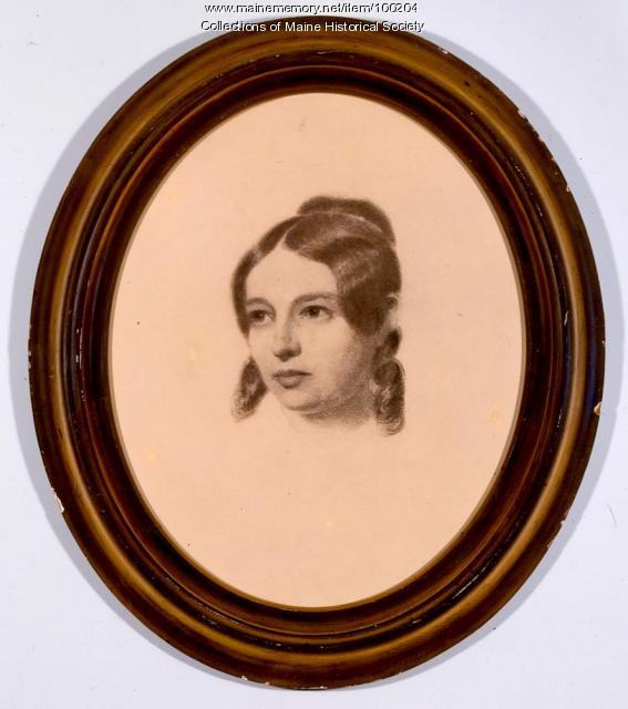 Anne Longfellow Pierce, Portland, ca. 1855