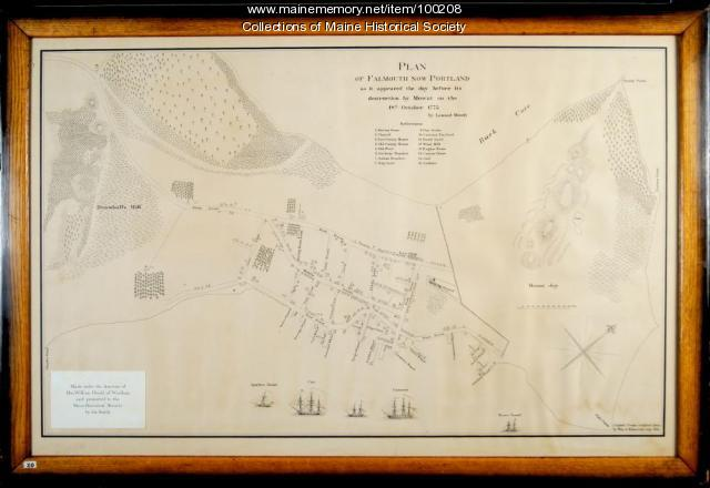 Plan of Falmouth as it appeared in 1775