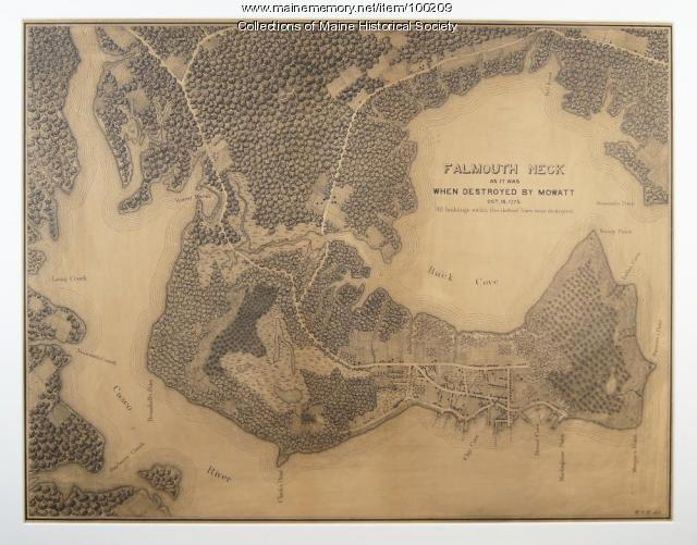 Falmouth Neck as Destroyed, 1880