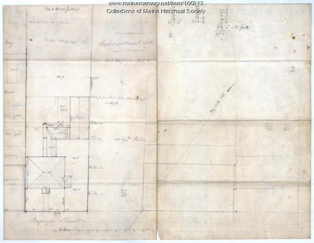 Plan of Longfellow and Preble lots, Portland, 1838