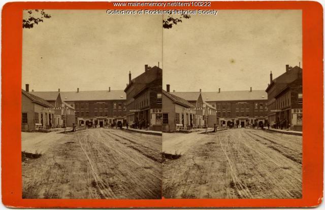 Limerock east from Custom House, Rockland, ca. 1875