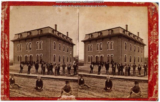 High school, Rockland, ca. 1875