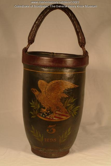 Leather fire bucket, Thomaston, 1793