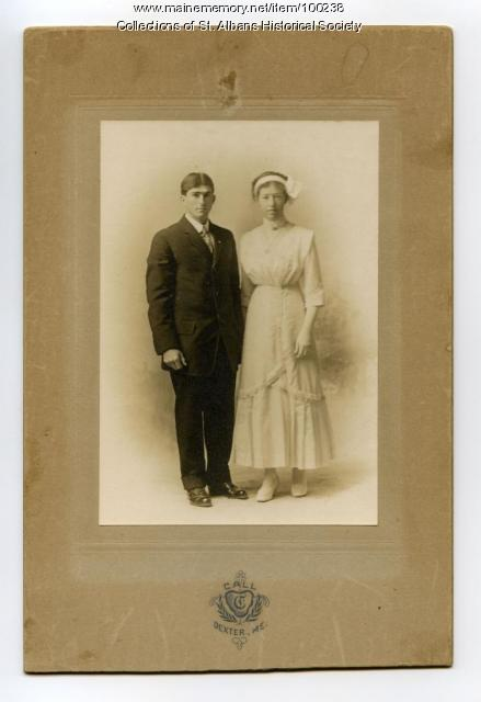 George & Lura Crocker, Wedding, St. Albans, 1912