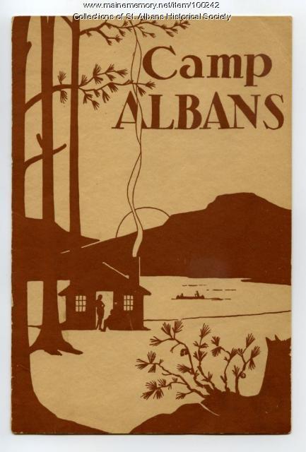 Camp Albans brochure, St. Albans, ca. 1930
