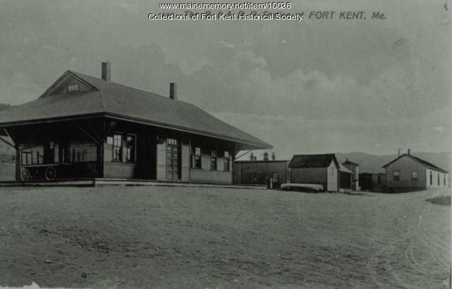 Bangor and Aroostook Railroad station, Fort Kent, c. 1910