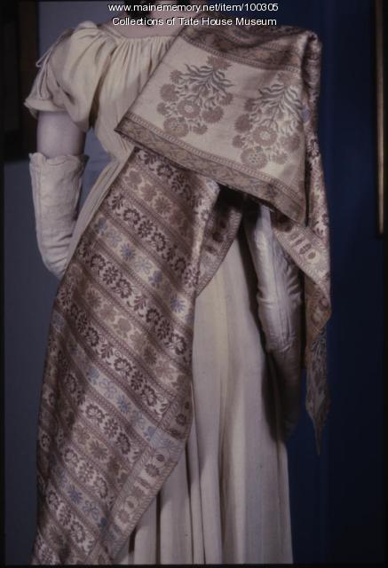 Russian silk shawl, Kupavno, Russia, 1804