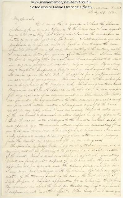 K.B. Sewall to William Seward, Mobile, 1860