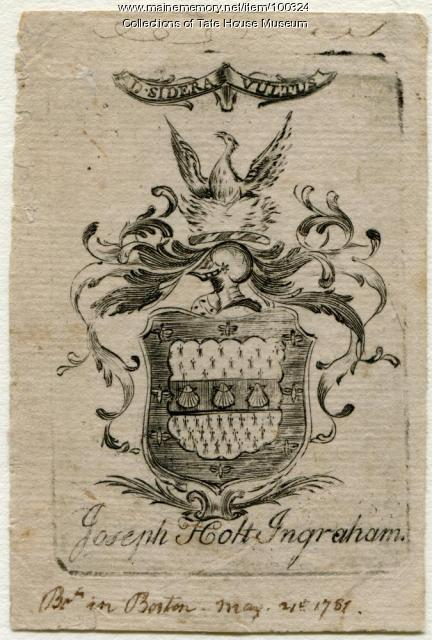 Bookplate, Portland, ca. 1774