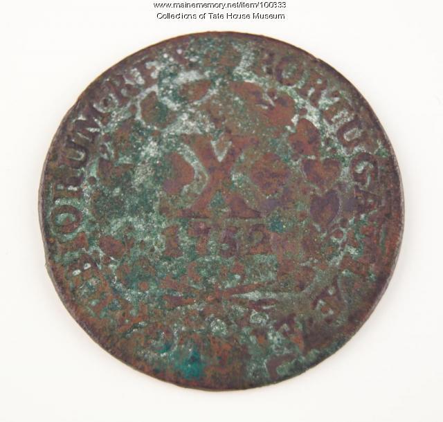 Portuguese coin, Portland, 1752