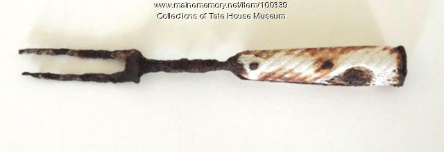 Bone-handled fork, Portland, ca. 1760