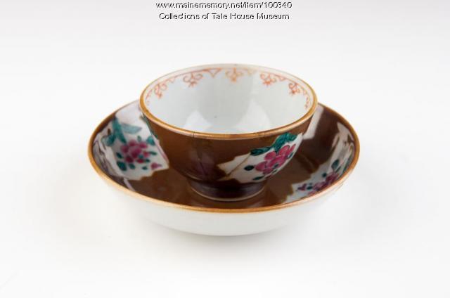 Batavian cup and saucer, Portland, ca. 1760