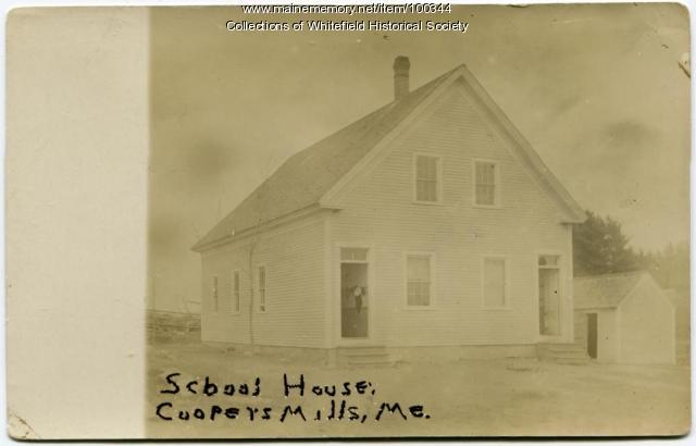 Coopers Mills School House, Whitefield, ca. 1910