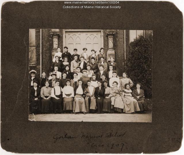 Gorham Normal School class photo, Gorham, 1907
