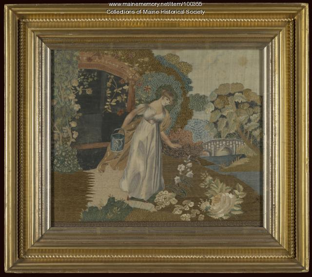 Harriet Cutter Needlework, Portland, ca. 1814
