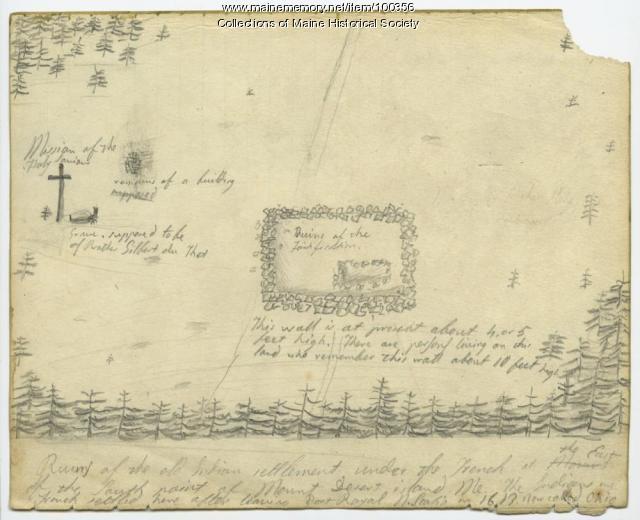 St. Sauveur mission, Mount Desert, ca. 1866