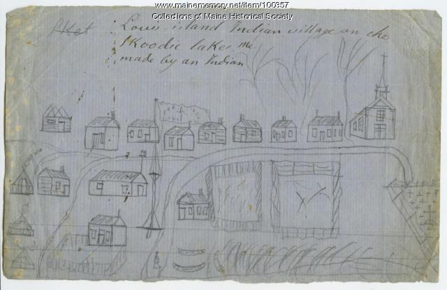 Lewis Island Passamaquoddy village, Skoodic Lake, ca. 1866