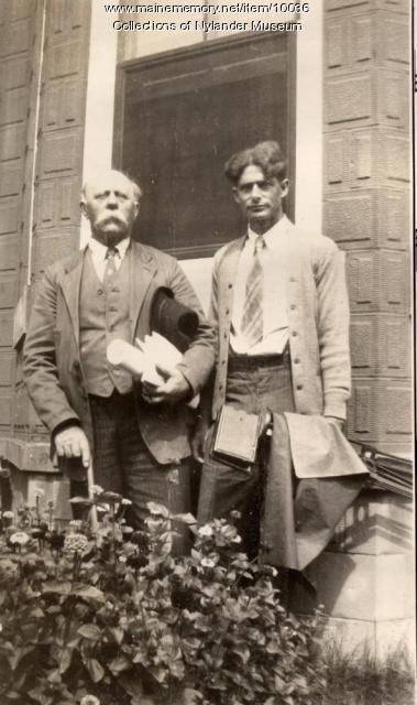 Olof O. Nylander and photographer Delmar B. Lovejoy, Presque Isle, 1933