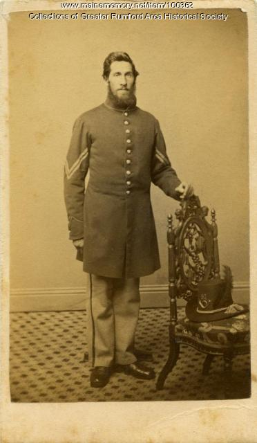 Civil War soldier, Rumford Center, ca. 1861