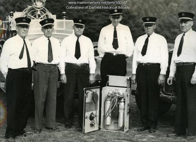 Dixfield Fire Department Officers, Dixfield, 1946