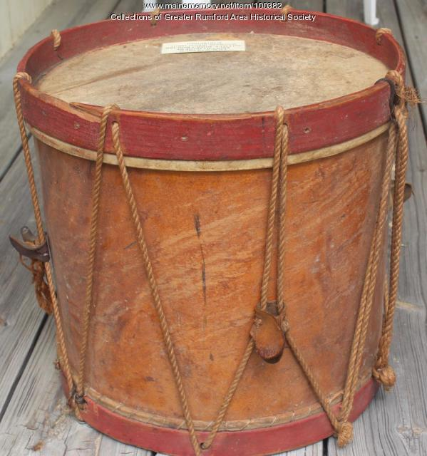 Civil War drum, Rumford, ca. 1865