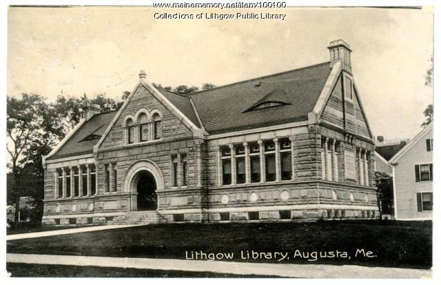 Lithgow Library, Augusta, ca. 1907