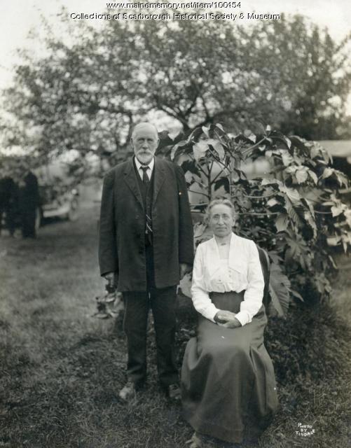 Zebulon and Ida Knight, Scarborough, ca. 1910
