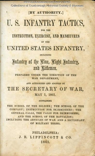 U.S. Infantry Tactic Manual, Scarborough, 1861