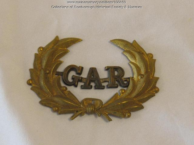 GAR pin, Scarborough, ca. 1866