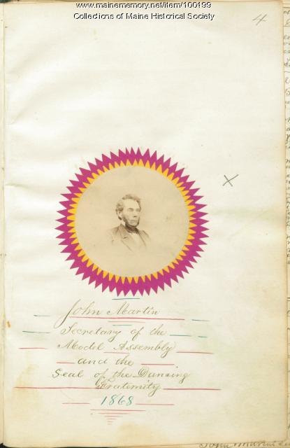 John Martin, Bangor, ca. 1868