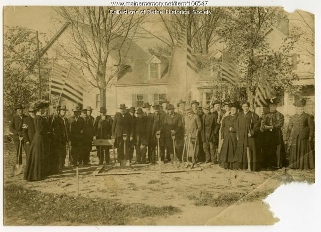 Civil War memorial groundbreaking, Bethel, 1908