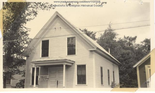 Police Headquarters, 12 Upper Depot Street, Bridgton, ca.1938