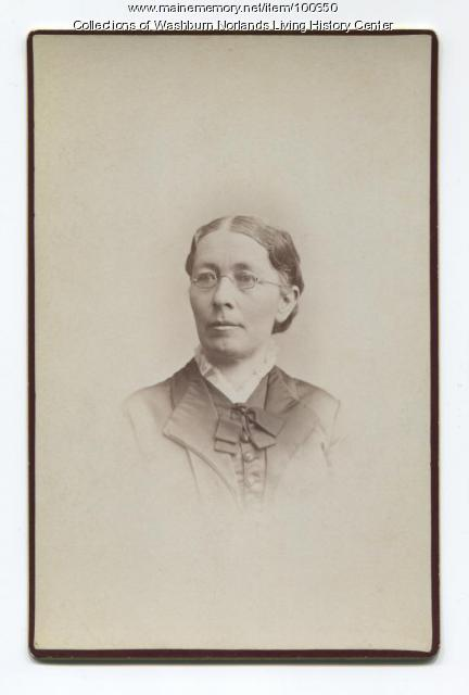 Caroline Ann Washburn Holmes, Minneapolis, ca. 1880