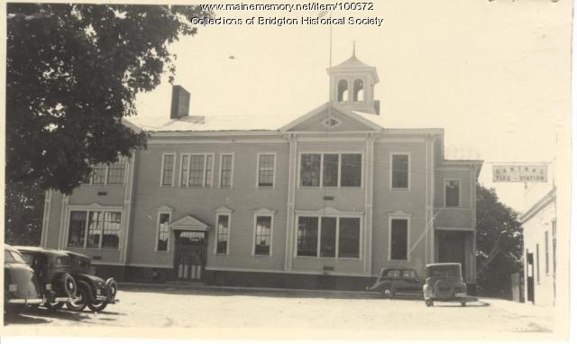Bridgton High School, Gibbs Avenue, Bridgton, ca. 1938
