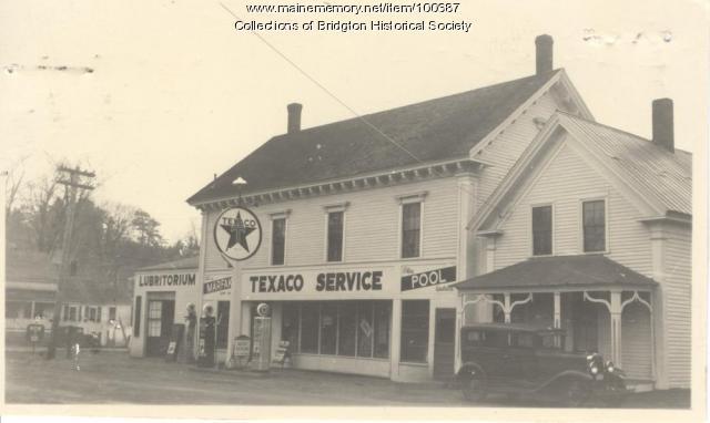 Texaco, 7 & 11 Flint Street, Bridgton, ca.1938