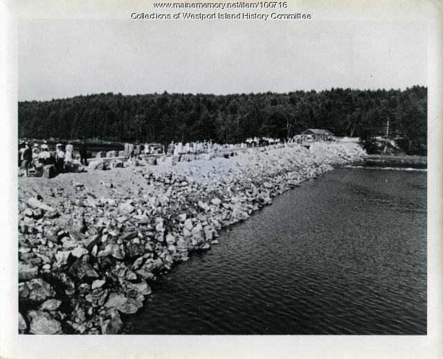 "Causeway ""Dedication parade,"" Westport Island, 1950"