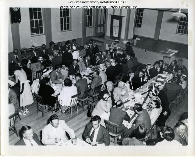 Dinner for Dedication of Westport causeway, Westport Island, 1950