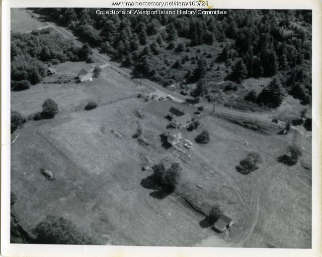 Aerial view of Edwin Cromwell's property, Westport Island, ca. 1950
