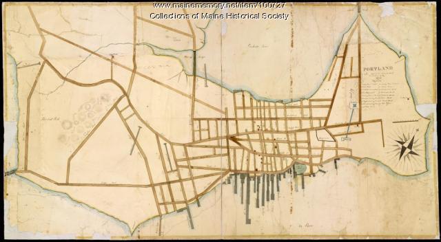 Portland street map, 1826